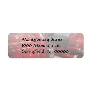 Fireman - Fire Engine No 3 Return Address Label