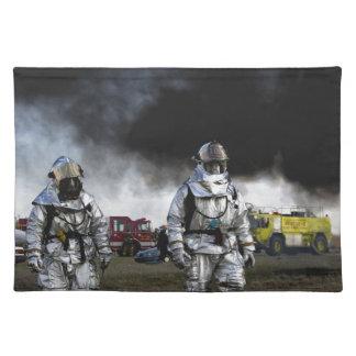 Fireman Fire Flame Rescue Destiny Digital Placemat