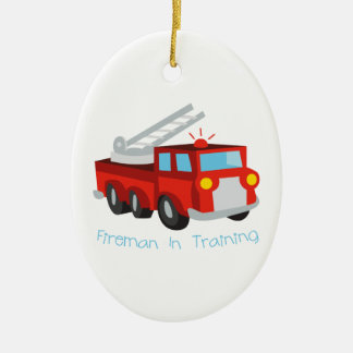 Fireman In Training Christmas Ornament