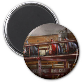 Fireman - Ladder Company 1 6 Cm Round Magnet