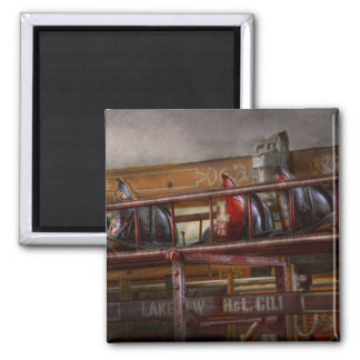 Fireman - Ladder Company 1 Square Magnet