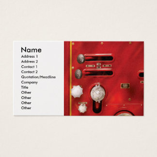 Fireman - Lever's and Valves Business Card