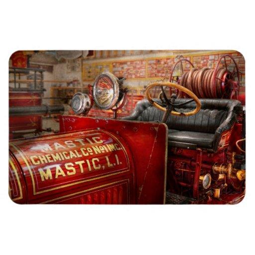 Fireman - Mastic chemical co Rectangular Magnets