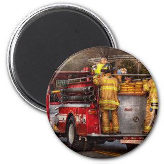Fireman - Metuchen Fire Department 6 Cm Round Magnet