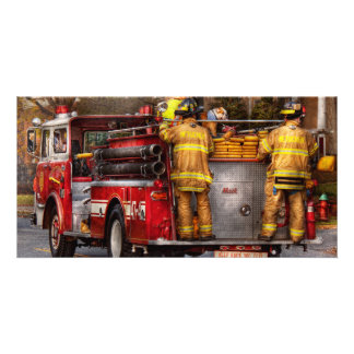 Fireman - Metuchen Fire Department Customised Photo Card