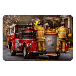 Fireman - Metuchen Fire Department Rectangular Photo Magnet