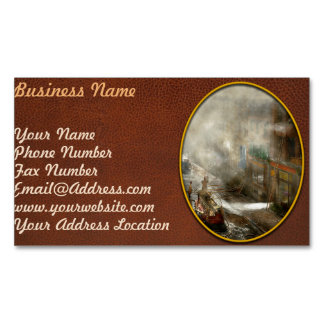 Fireman - New York NY - Big stink over ink 1915 Magnetic Business Cards