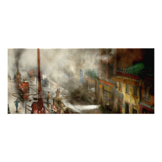 Fireman - New York NY - Big stink over ink 1915 Rack Cards