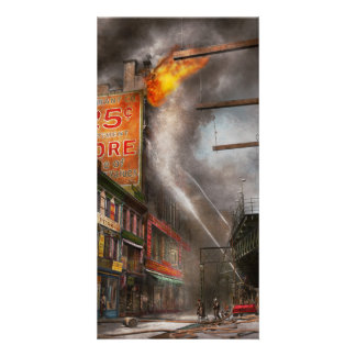 Fireman - New York NY - Show me a sign 1916 Customised Photo Card