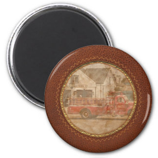 Fireman - Newark fire company 6 Cm Round Magnet