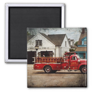 Fireman - Newark fire company Square Magnet