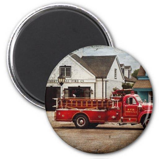 Fireman - Newark fire company Fridge Magnets