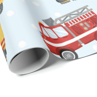 Fireman pattern fun Party wrapping paper
