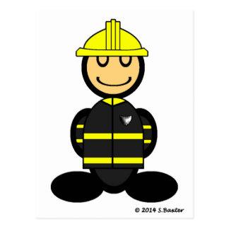 Fireman (plain) post card