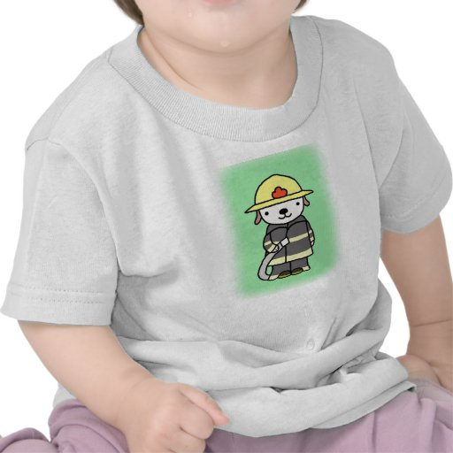 Fireman Puppy Dog Cute Baby Boy Grapic Tee T-shirt