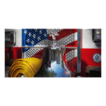 Fireman - Red Hot Custom Photo Card
