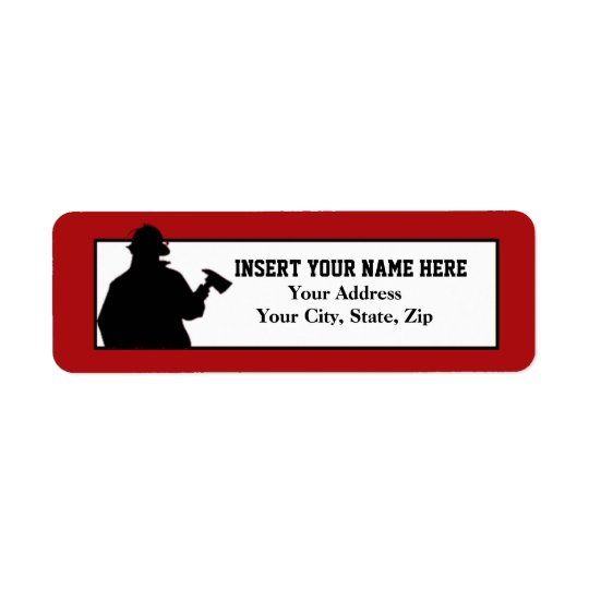 Fireman Return Address Label