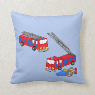 Fireman's Red Fire Trucks Cushion