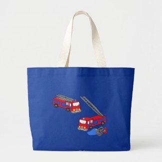 Fireman's Red Fire Trucks Jumbo Tote Bag