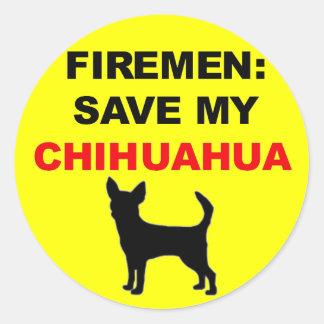Fireman Save My Chihuahua Sticker