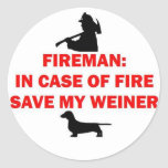 Fireman Save My Weiner Dog Joke