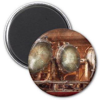 Fireman - Search lights 6 Cm Round Magnet