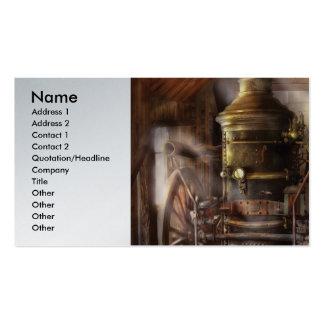 Fireman - Steam Powered Water Pump Business Card Templates