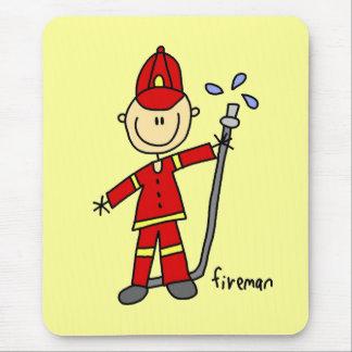 Fireman Stick Figure Mouse Pad