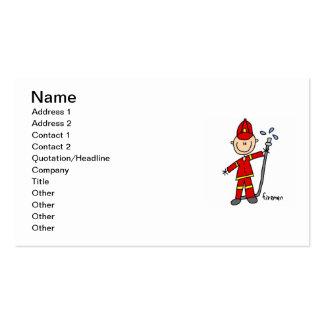 Fireman Stick Figure Pack Of Standard Business Cards