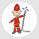 Fireman Stick Figure Sticker