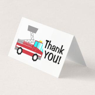 Fireman thank you card   fire truck notecard