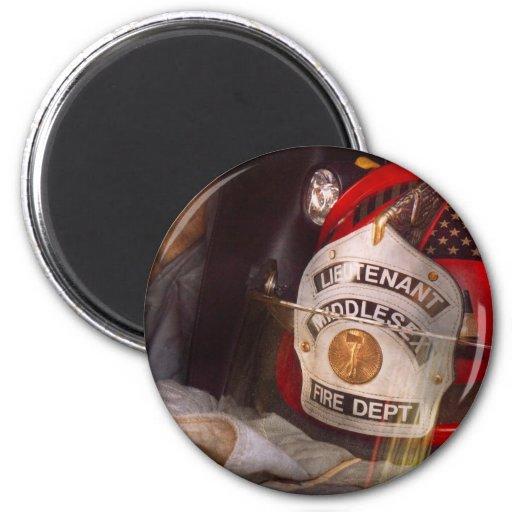Fireman - The Lieutenants cap Magnet