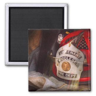 Fireman - The Lieutenants cap Square Magnet