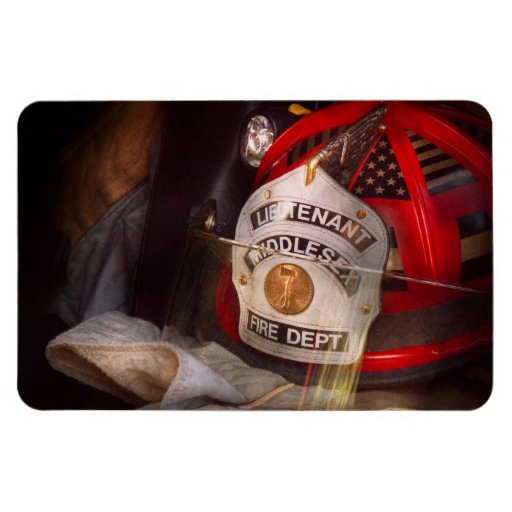 Fireman - The Lieutenants cap Flexible Magnets