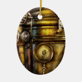 Fireman - The Steam Boiler  Ceramic Oval Decoration