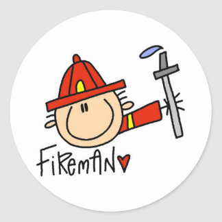Fireman Tshirts and Gifts Classic Round Sticker