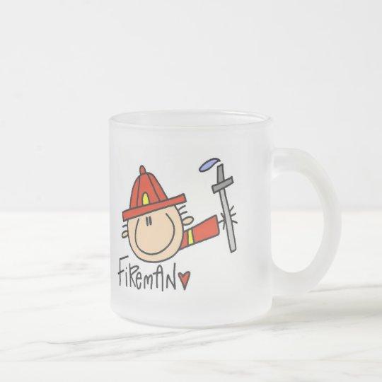 Fireman Tshirts and Gifts Frosted Glass Coffee Mug