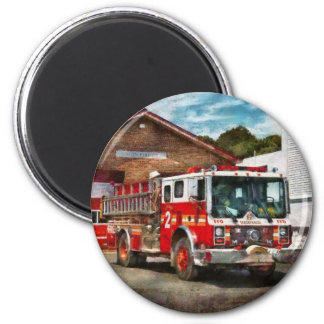 Fireman - Union Fire Company 1 6 Cm Round Magnet