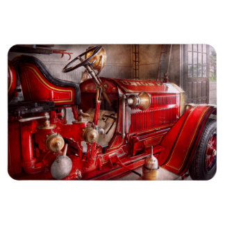 Fireman - Waiting for a call Rectangular Photo Magnet