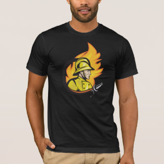 Fireman With A Hose Mens T-Shirt