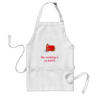 Fireman with flames standard apron
