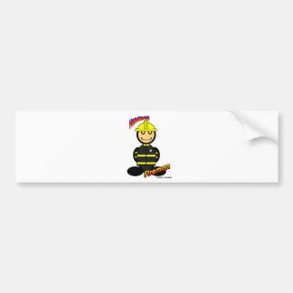 Fireman (with logos) bumper sticker