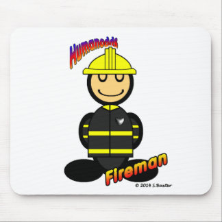 Fireman (with logos) mouse pad