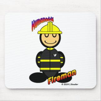 Fireman (with logos) mouse pad