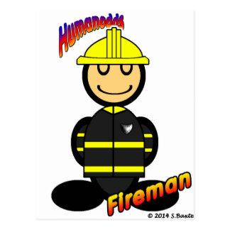 Fireman (with logos) postcard