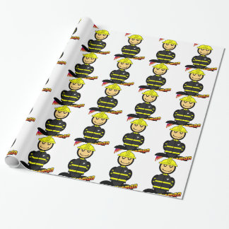 Fireman (with logos) wrapping paper
