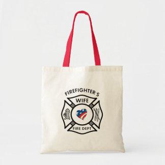 Fireman Wives USA Budget Tote Bag