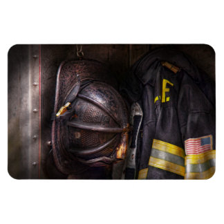 Fireman - Worn and used Rectangle Magnet