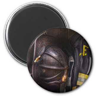 Fireman - Worn and used 6 Cm Round Magnet