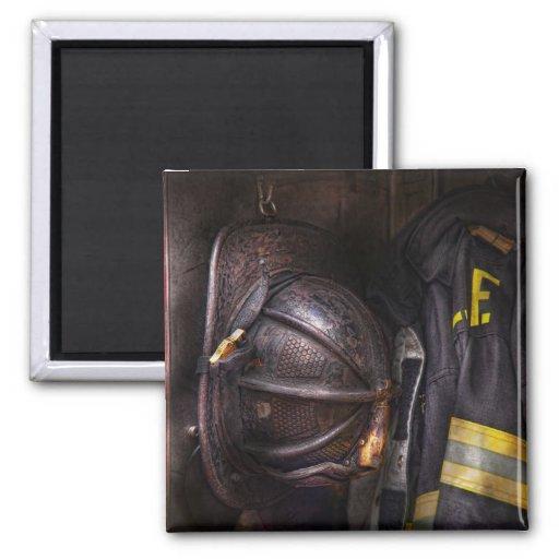 Fireman - Worn and used Fridge Magnets